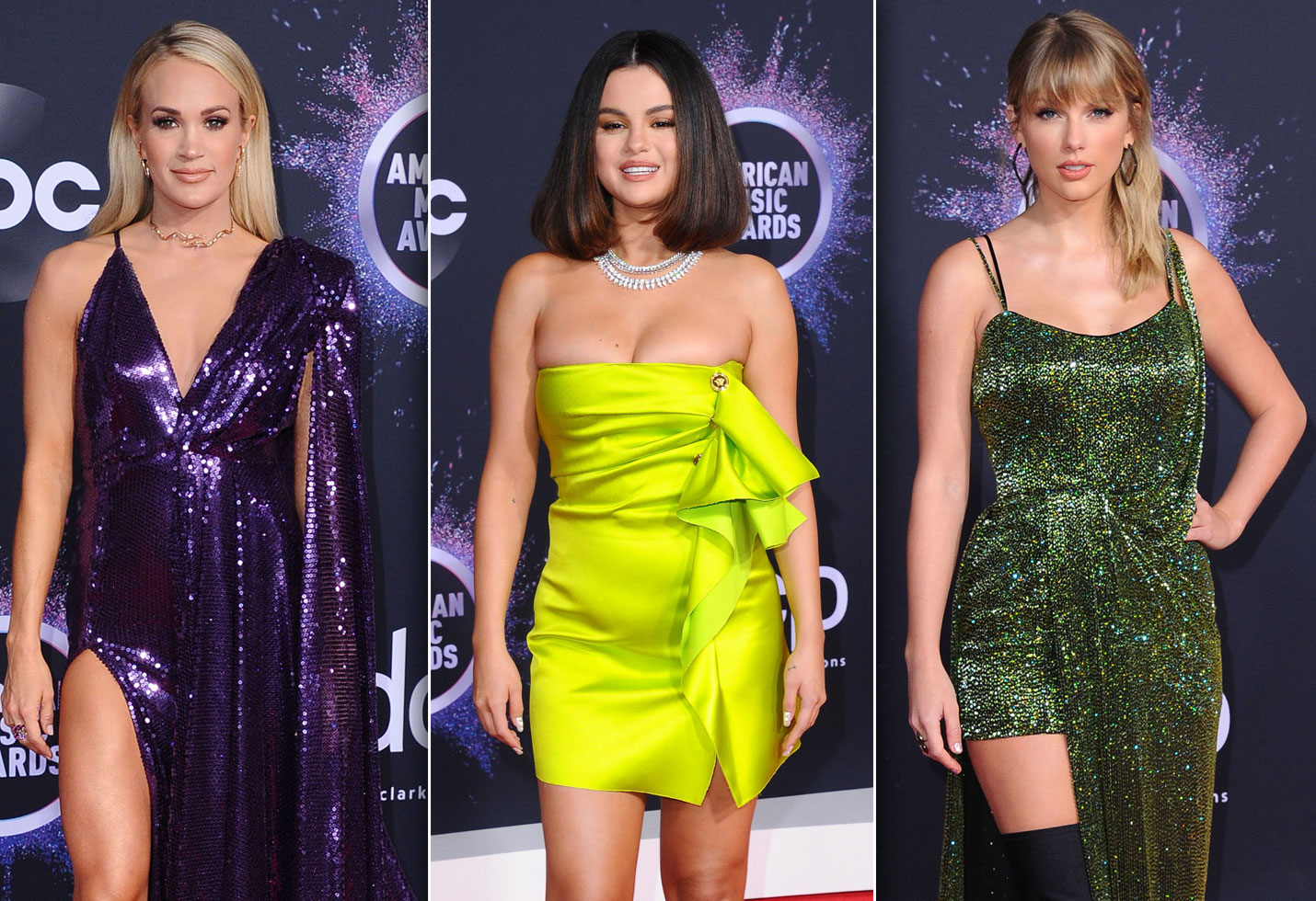 Carrie Underwood, Selena Gomez and Taylor Swift