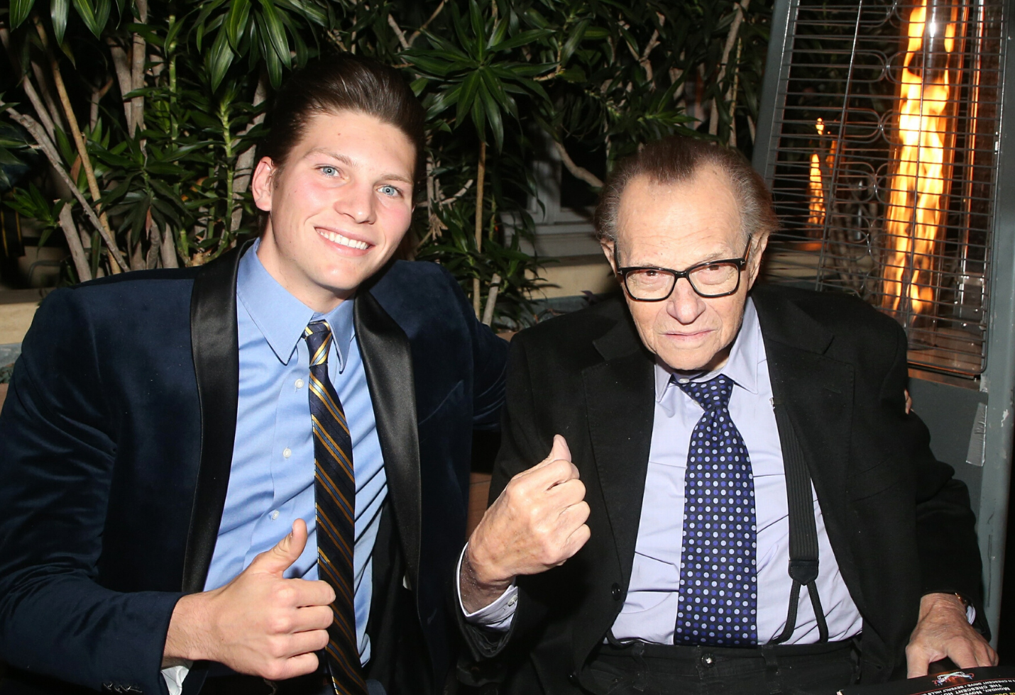 Larry King and son Chance