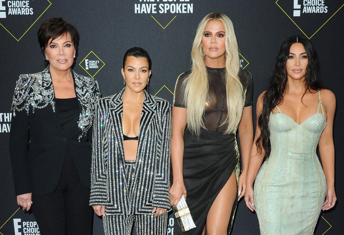 -PICTURED: Kris Jenner, Kourtney Kardashian, Khloe Kardashian, Kim Kardashian West