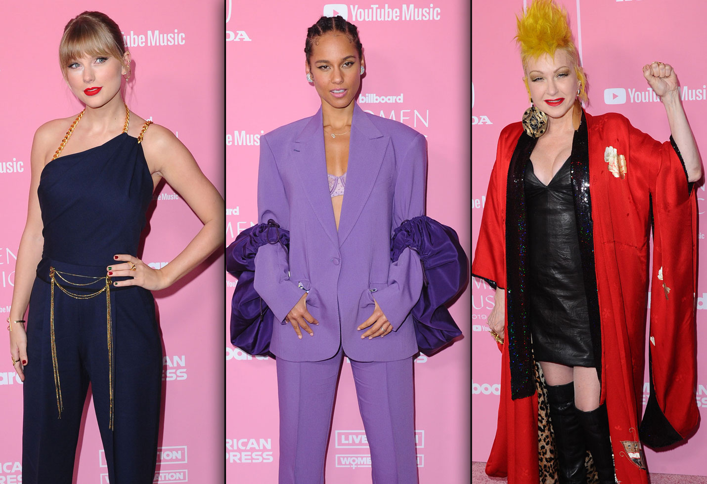 Taylor Swift, Alicia Keys, Cyndi Lauper