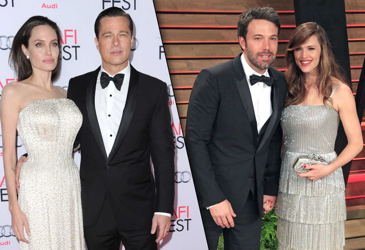 Bradd Pitt and Angelina Jolie / Ben Affleck and Jennifer Garner
