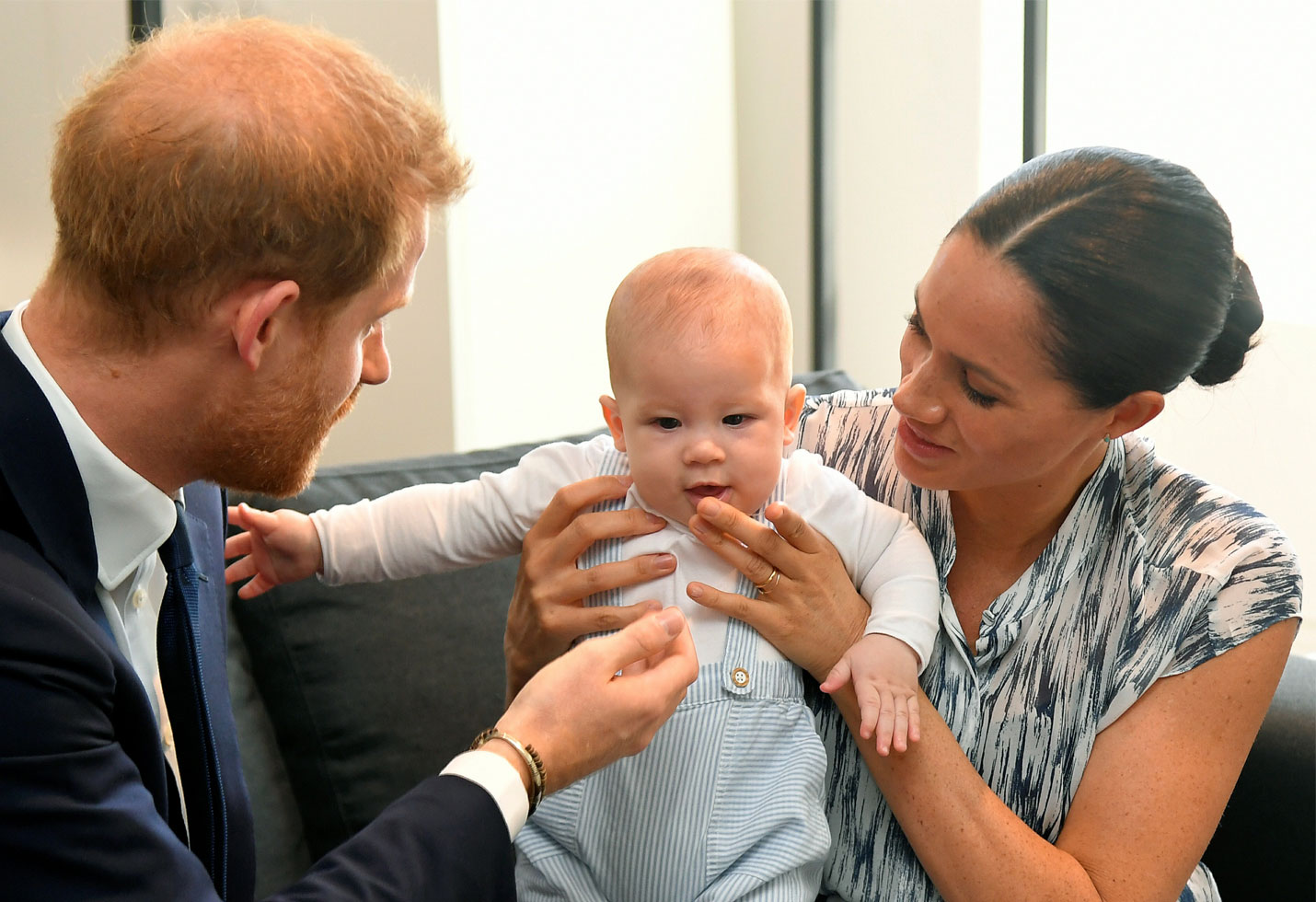 Meghan Markle and Prince Harry and baby Archie