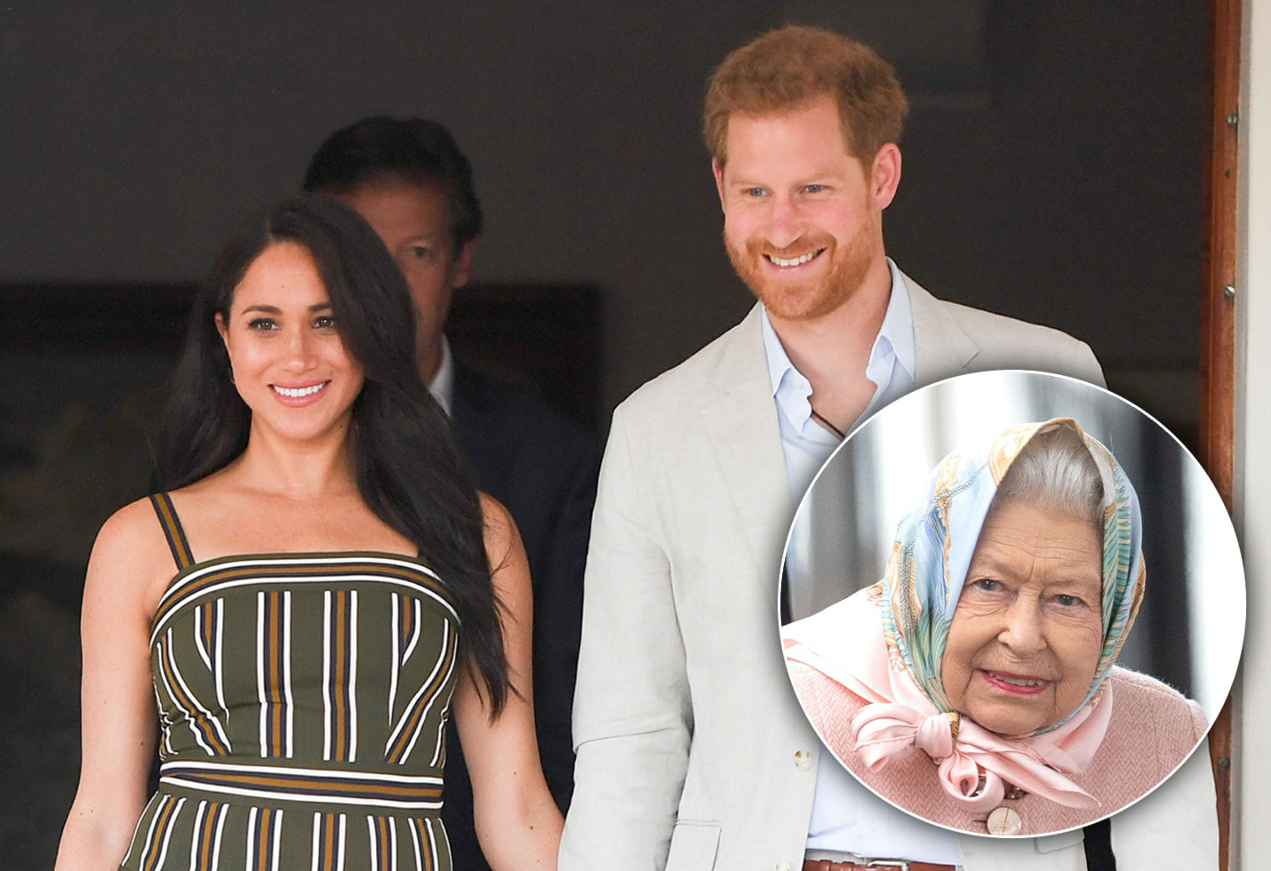 Meghan Markle and Prince Harry and Queen Elizabeth