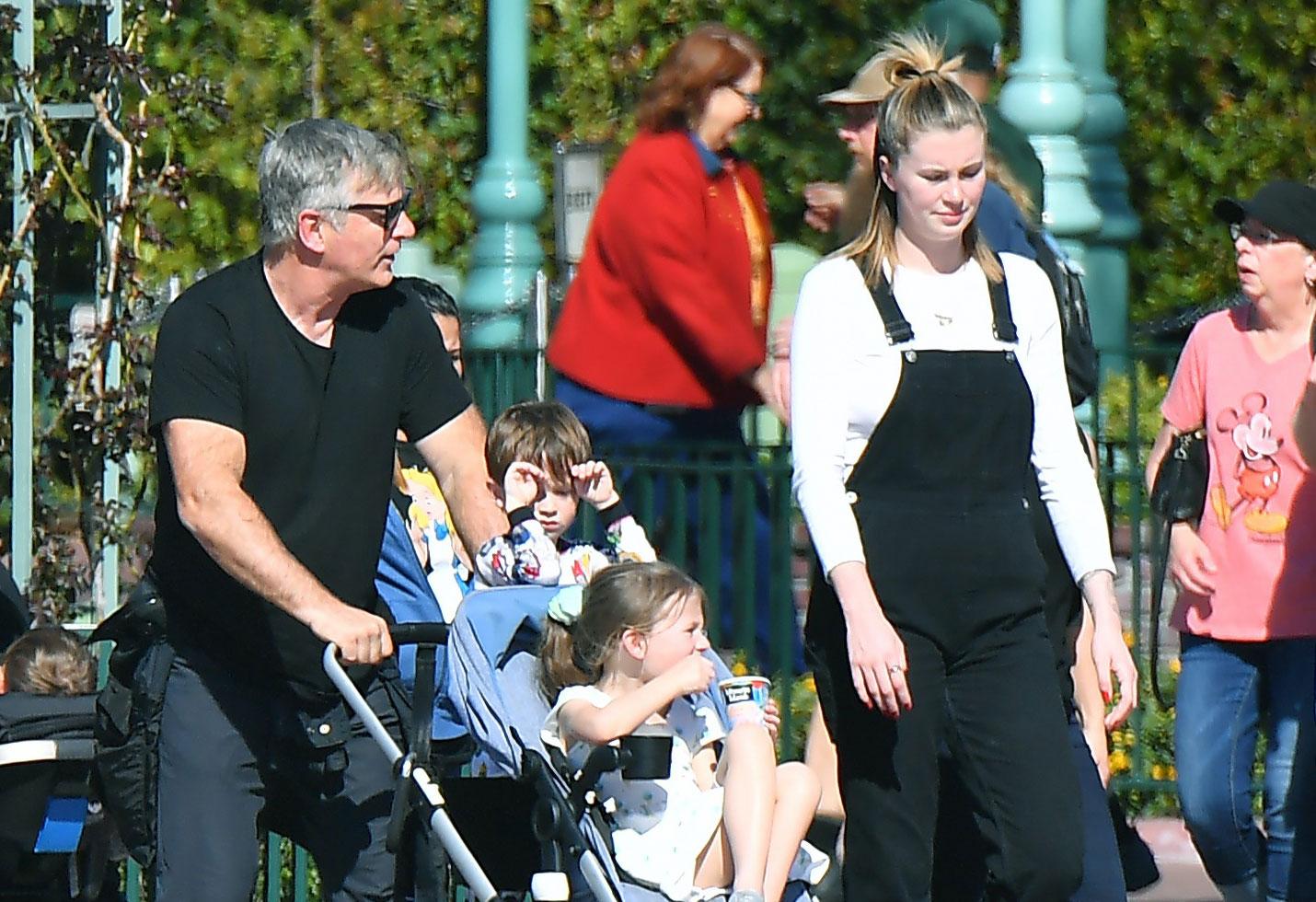 Alec, Hilaris and Ireland Baldwin with the kids at Disneyland