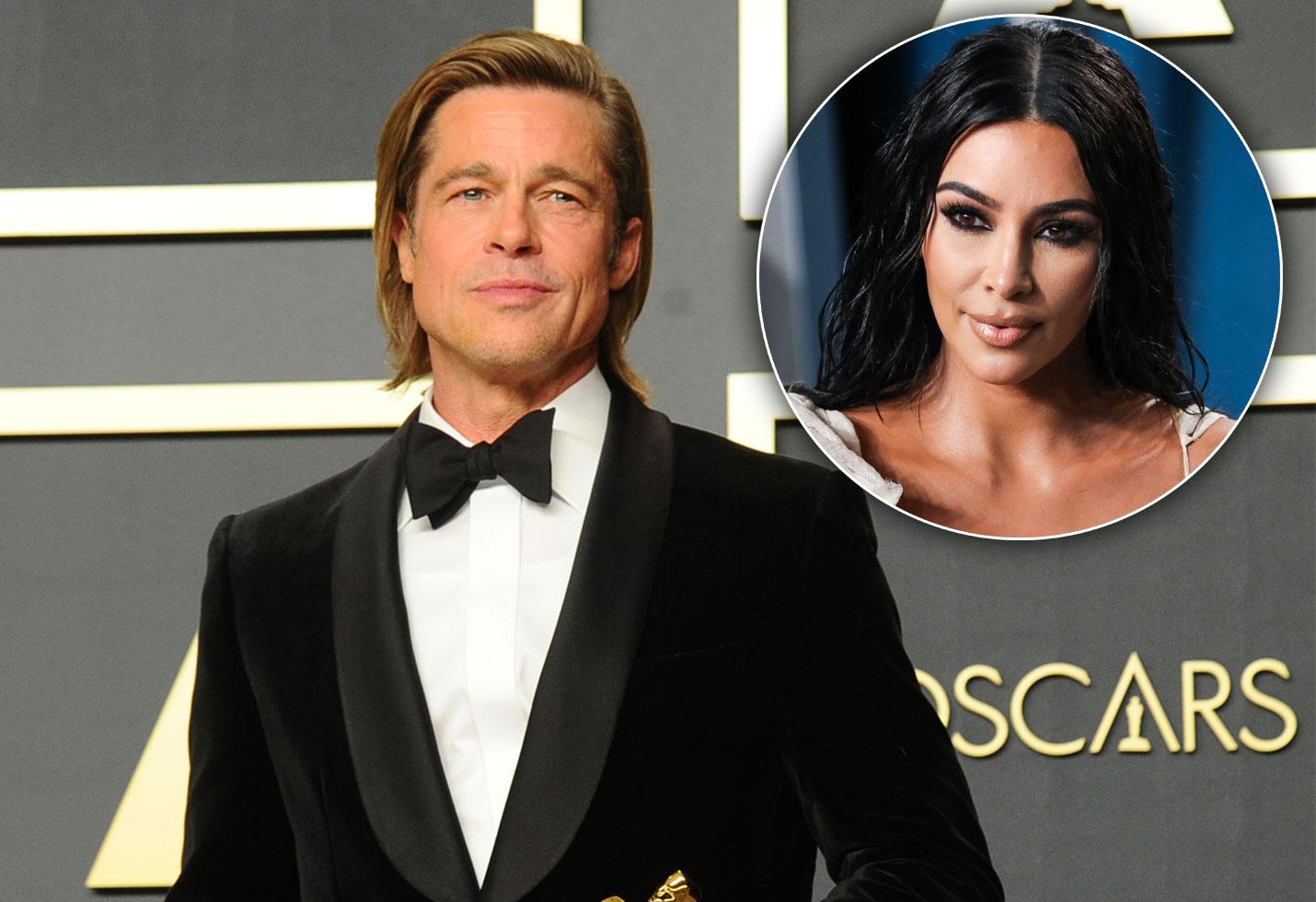 Brad Pitt and Kim Kardashian
